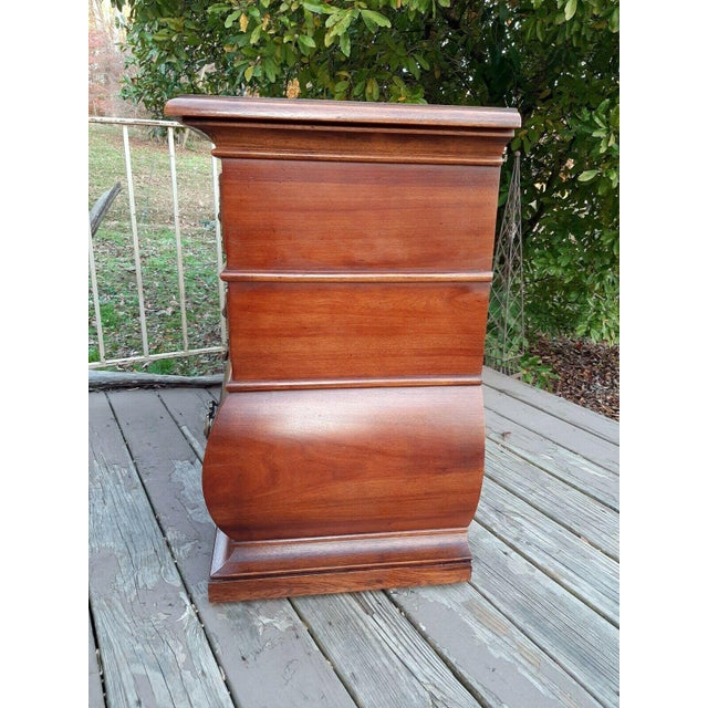 1960s 1966 Drexel Et Cetera Kettle Base Walnut 3 Drawer Accent Chest For Sale - Image 5 of 13