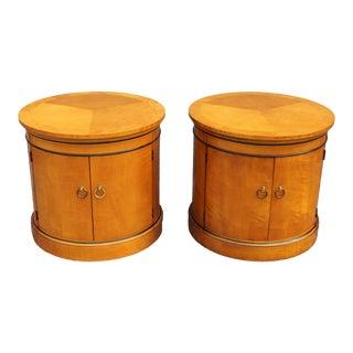 1960s Vintage Drum End Tables - A Pair For Sale
