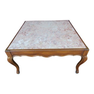 20th Century French Provincial John Widdicomb Pink Marble Top Table For Sale