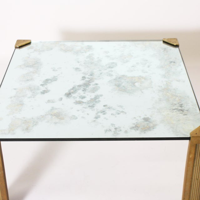 Hollywood Regency Peter Ghyczy Coffee Table With Smoked Glass Top C. 1970 For Sale - Image 3 of 6