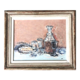 Sherry and Biscuit Still Life American 1948 Jack Gage Stark For Sale