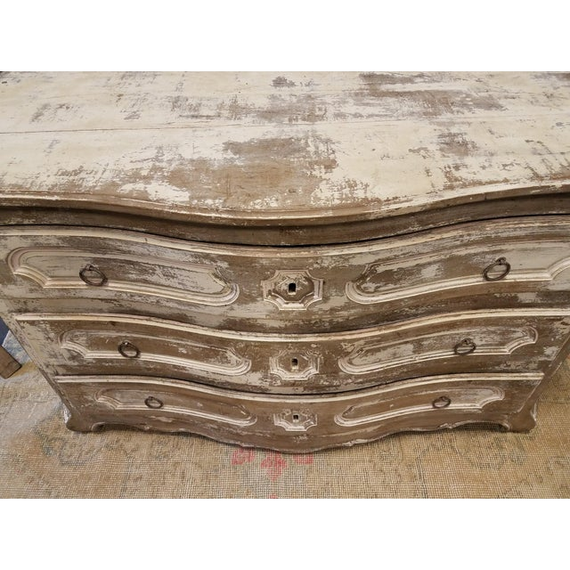 Louis XV Style Painted Commode With Serpentine Front - Image 5 of 8