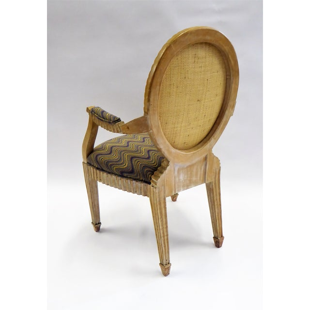 Louis XIV Modern Adaption of Louis XIV Roi Soleil Bergere Armchair , C. 1980s For Sale - Image 3 of 12
