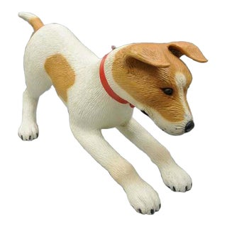 Vintage Fiberglass Jack Russell Terrier Dog Store Advertising Display For Sale
