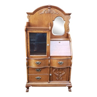 Lexington Furniture Side by Side Oak Cabinet For Sale