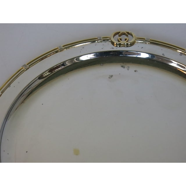 Gucci Vintage Gucci Round Silver Plate Tray For Sale - Image 4 of 6