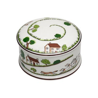 Coalport English Hunting Scene Trinket Box For Sale
