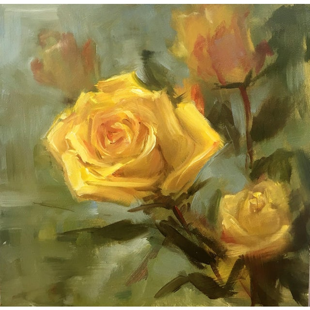Oil Painting of Yellow Roses by Yana Golikova - Image 1 of 2