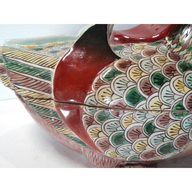 Early 20th C. Famille Rose Waterfowl Tureen - Image 8 of 8