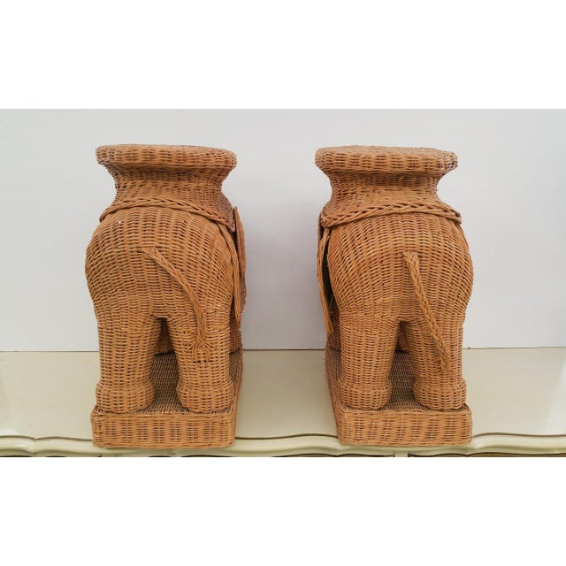 Hollywood Regency Wicker Elephant - A Pair - Image 5 of 6