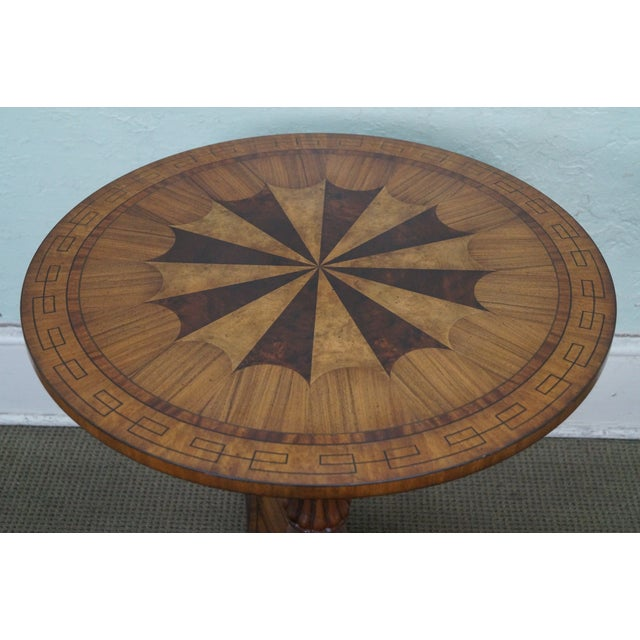 Hollywood Regency Maitland Smith Inlaid Top Regency Style Table For Sale - Image 3 of 10