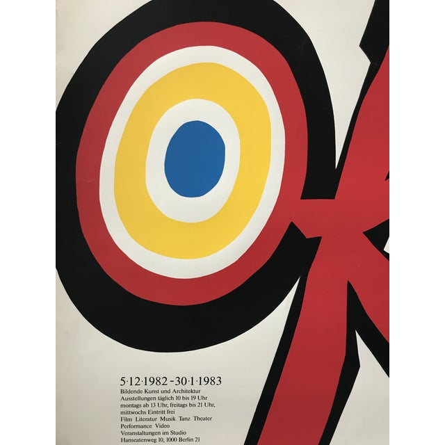 Original 1983 Vittorio Poster, Akademie Der Künste, Signed and Dated For Sale - Image 4 of 6