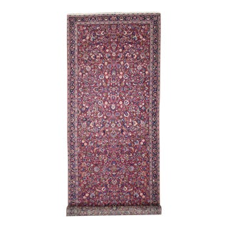 19th Century Antique Persian Mashhad Carpet Runner For Sale