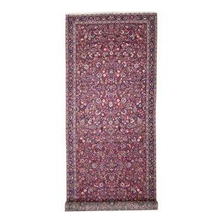 Antique Persian Mashhad Extra Long Hallway Runner For Sale