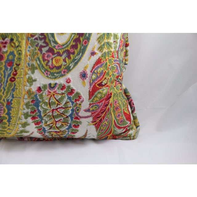 Multi Color Paisley Pillow - Image 4 of 5