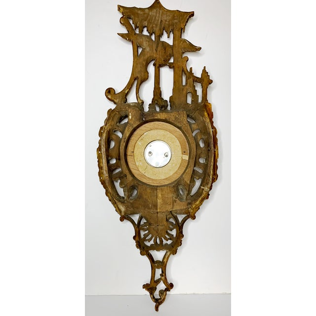 19th Century Italian Rococo Carved Barometer For Sale - Image 10 of 11