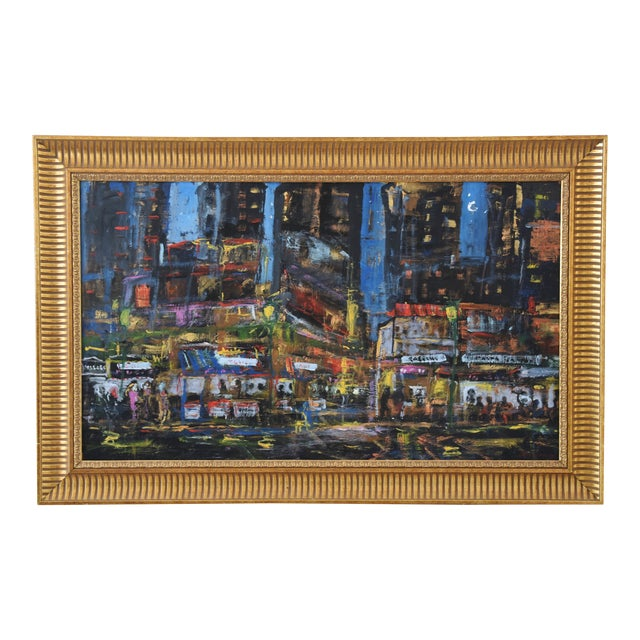 Juan Guzman Los Angeles Cityscape Abstract Painting For Sale