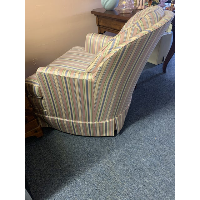 Mid-Century Tufted Chintz Swivel Rocking Chair For Sale - Image 4 of 7