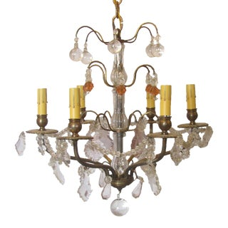 French Versailles-Style Crystal Chandelier For Sale