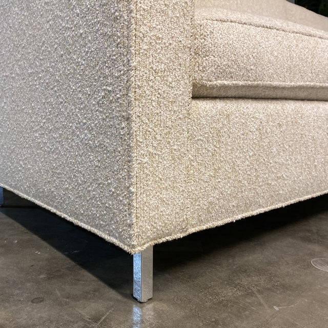 2010s Custom Designed Nubby Cotton Three Seater Sofas - a Pair For Sale - Image 5 of 9