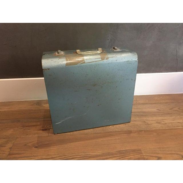 "Metal Vintage Metal Picnic ""Suitcase"" For Sale - Image 7 of 7"
