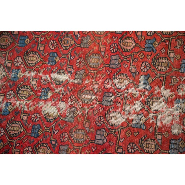 """Cotton Vintage Malayer Rug - 4'3"""" x 6'7"""" For Sale - Image 7 of 10"""