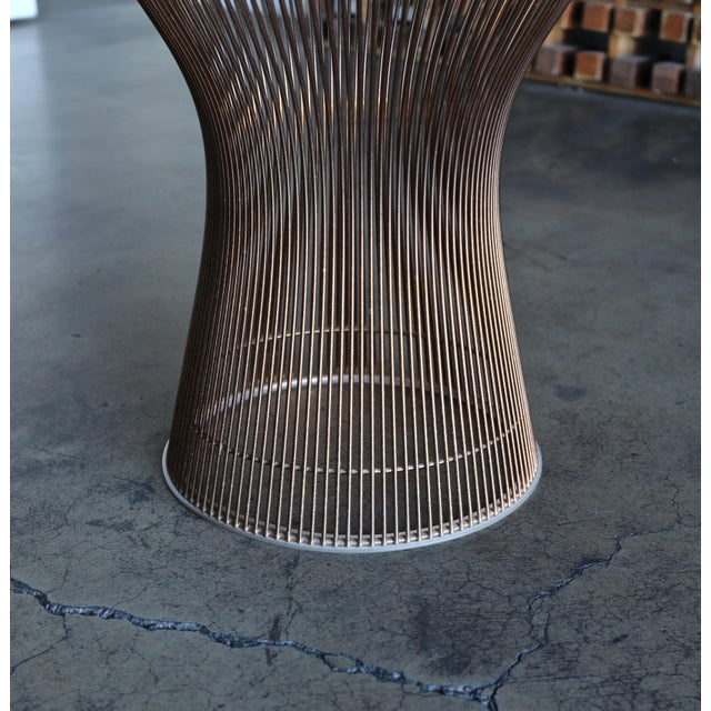 Copper 1965 Warren Platner for Knoll Copper Occasional Table For Sale - Image 8 of 9