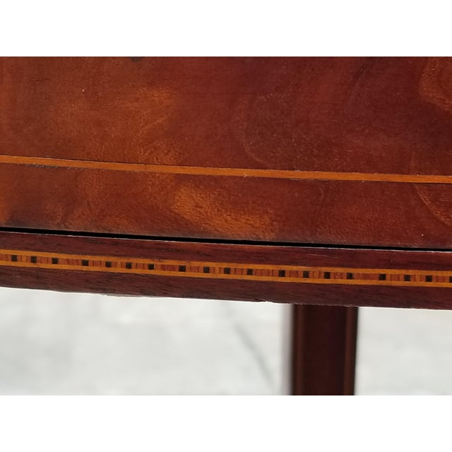 Brown Antique Rosewood Hepplewhite Card Table For Sale - Image 8 of 13