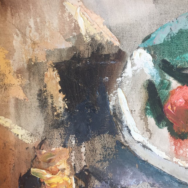 Vintage Modernist Abstract Still Life Painting For Sale - Image 4 of 7