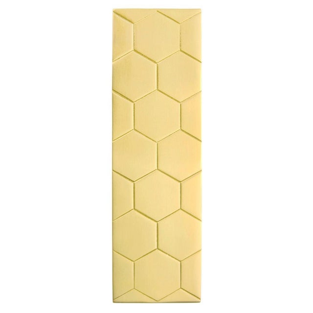 Lisa Jarvis Jewelry for Furniture Honeycomb Pull - Satin Brass For Sale - Image 4 of 4