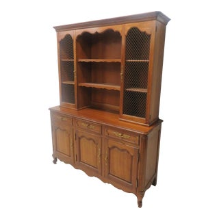 Kindel Cherry French Style Open China Cabinet