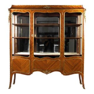 Antique Louis XVI Style China Cabinet / Vitrine For Sale