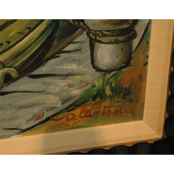Wpa Style Ship Paintings - Set of 4 For Sale - Image 4 of 10