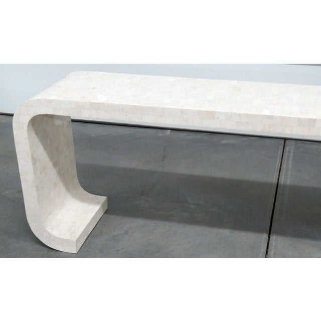 Mid-Century Modern, Enrique Garcia style, tessellated marble console table.