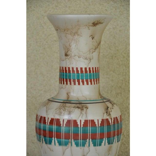 "Navajo 18"" Tall Navajo Native American Arlene John Horsehair Pottery Vase For Sale - Image 3 of 8"