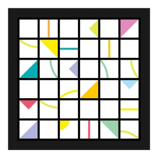 """Cross Rhythm #1"" Contemporary Geometric Limited Edition of 45 Reproduction Print For Sale"