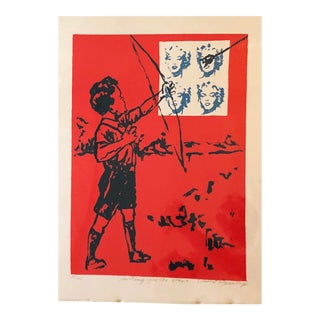 1990s David Bromley Pop Art Color Block Print For Sale