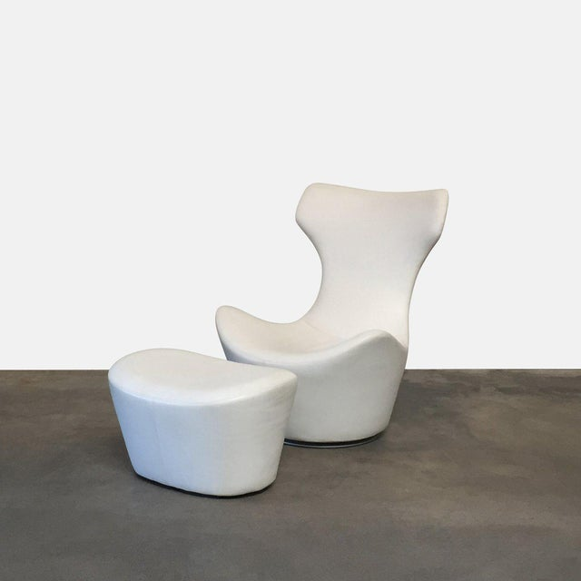 2000 - 2009 Modern B&b Italia 'Grande Papilio' Lounge Chair & Ottoman For Sale - Image 5 of 5