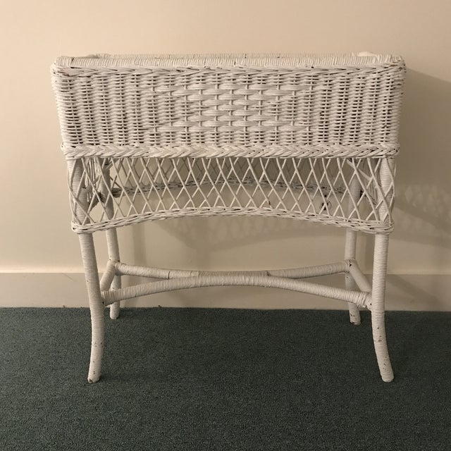 Vintage Wicker Plant Stand For Sale - Image 13 of 13