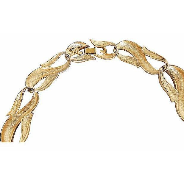 Metal Givenchy Textured & Smooth Link Necklace For Sale - Image 7 of 8