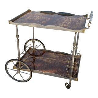 1960s Italian Aldo Tura Bar Cart For Sale