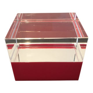 Alessandro Albrizzi Mid-Century Lucite Box For Sale