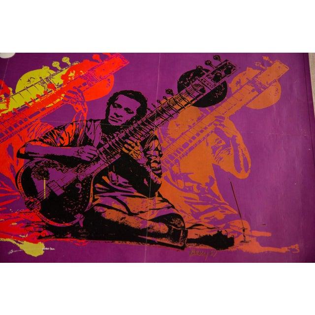Mid-Century Modern Vintage Ravi Shankar Music Poster For Sale - Image 3 of 4