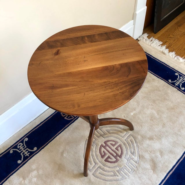Shaker style candle stand side table by Pennsylvania House.