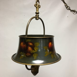 Antique Artist Signed Tole Hanging Lamp Preview