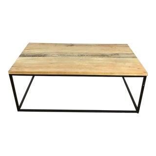 West Elm Box Frame Wood & Metal Coffee Table