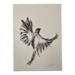 """""""Taking Flight"""" Original Painting on Paper Signed by the Artist For Sale"""