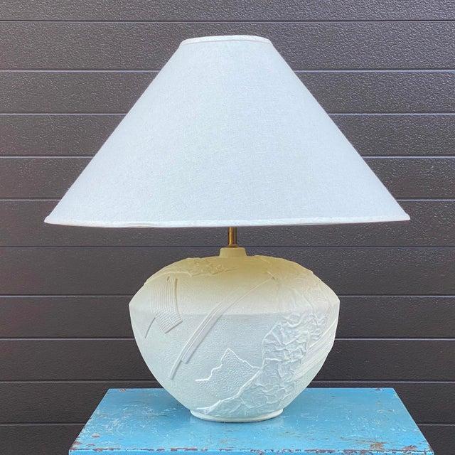 Bon Art Postmodern Plaster Table Lamp For Sale - Image 11 of 13