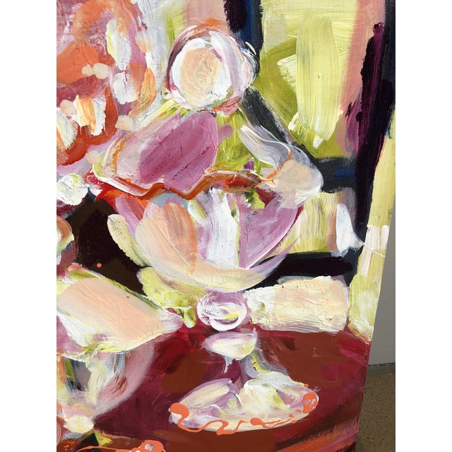 Abstract Abstract Candy Jar Oil Painting For Sale - Image 3 of 9