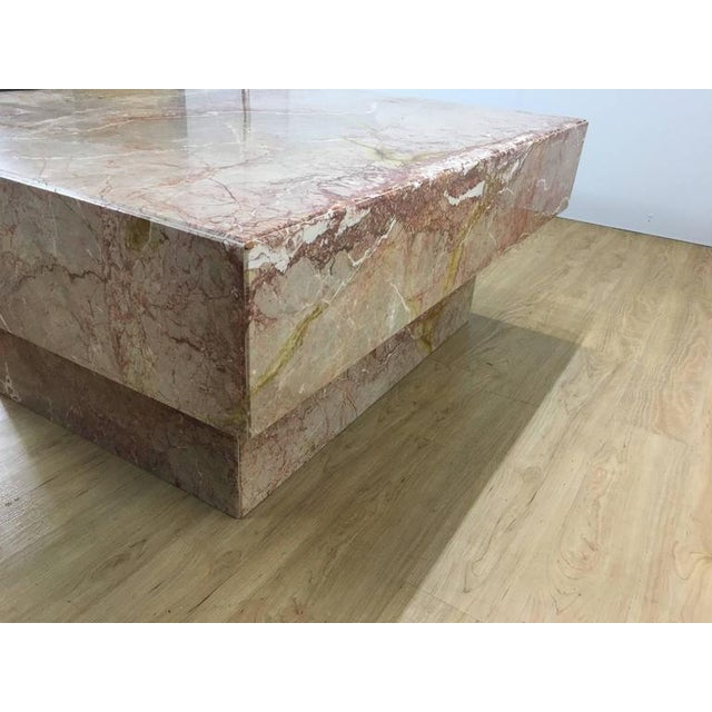 Substantial Rectangular Marble Cocktail Table For Sale - Image 5 of 7